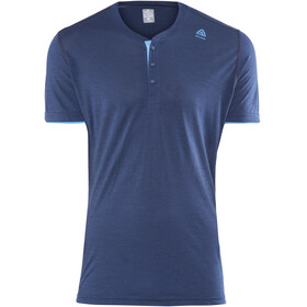 Aclima LightWool Henley Shirt Men insignia blue/blithe